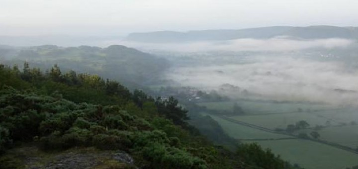 Dawn over Conwy Valley, North Wales by Angela Grant
